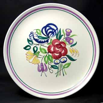 Poole floral plate