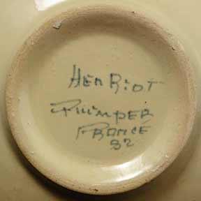 Quimper Breton bowl (mark)