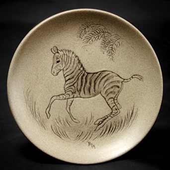Poole zebra plate