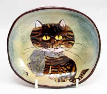 Chelsea tabby cat dish