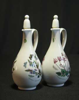 Portmeirion oil and vinegar bottles