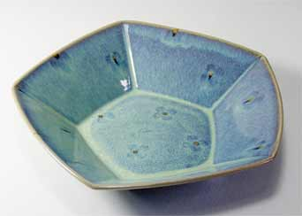 Dartington pentagonal bowl
