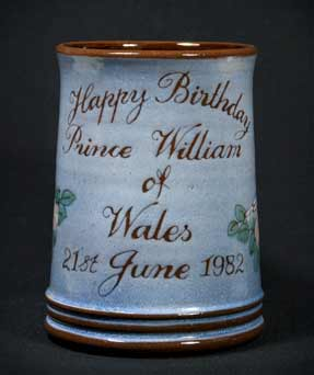 Prince William commemorative tankard