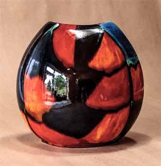 Poole purse vase